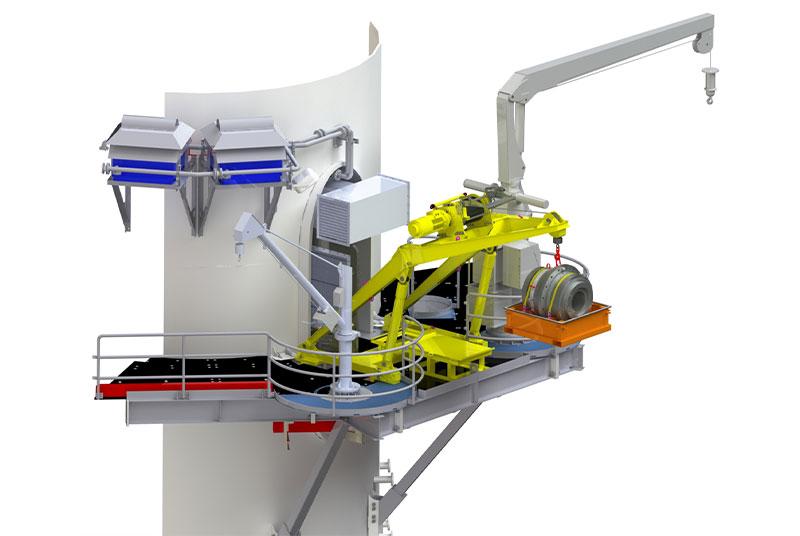 Offshore-Kran mit kleiner Kapazität