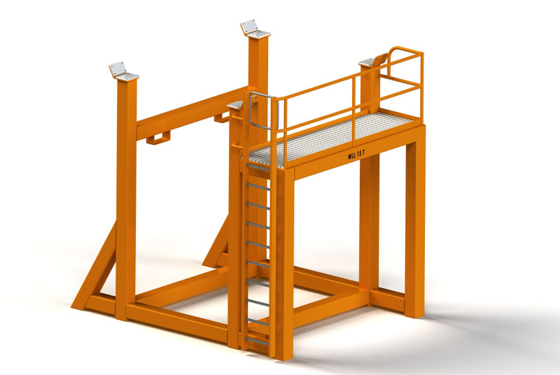 Storage Frame for Reach Stacker Lifting Tool